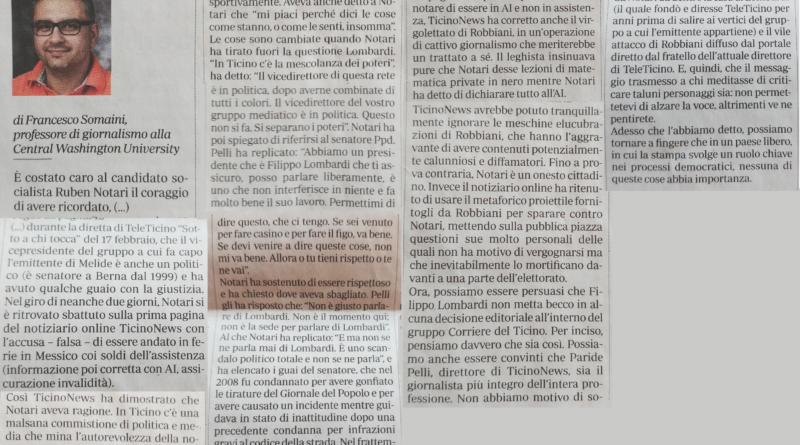 Articolo di Francesco Somaini
